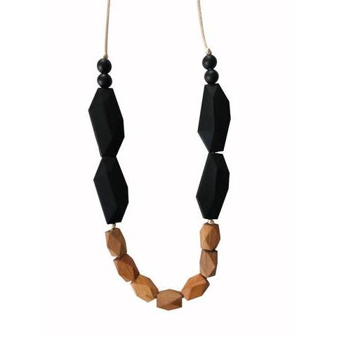 The Ava  - Black Wooden Teething Necklace