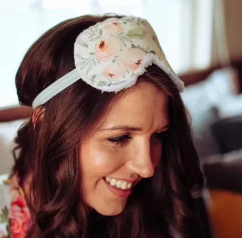 Soft Blush Floral Sleep Mask