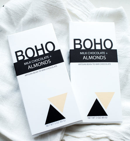 BOHO Milk Chocolate & Almonds Bar (Set of 2)