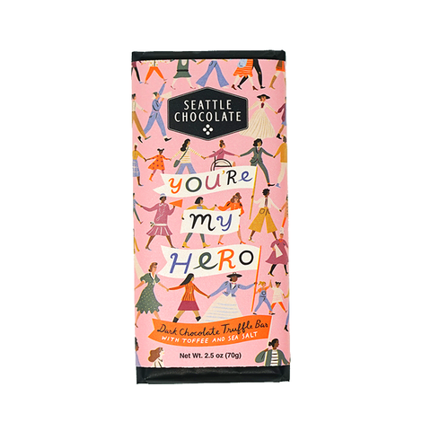 """You're My Hero"" Chocolate Bar - Celebrating 100 Years of Women's Right to Vote!"