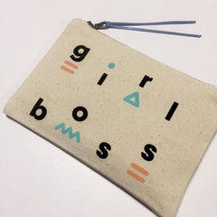 Girl Boss Zip Canvas Pouch