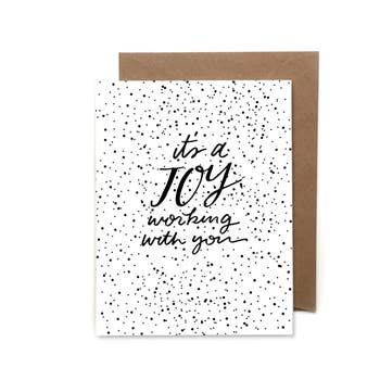 """It's A Joy Working With You"" Card - Pack of 5"
