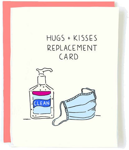 """Hug and Kiss Replacement"" - (Pack of 5 Cards)"