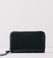 black wallet straight angle