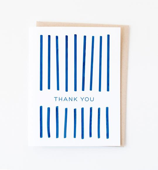"Linear ""Thank You"" Card - Pack of 5"