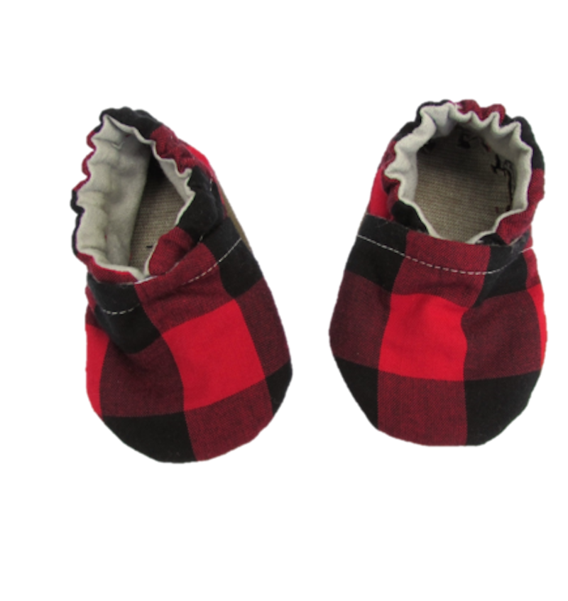Red Plaid Booties