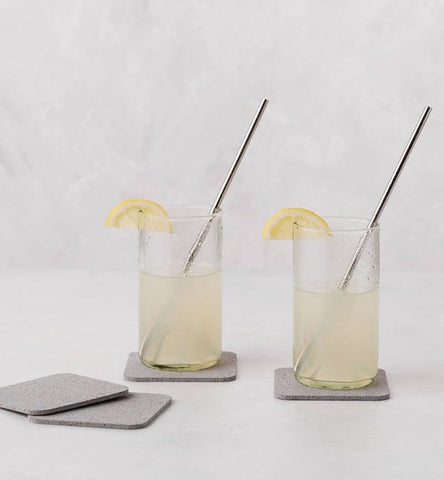 10 Inch Silver Plated Reusable Straw