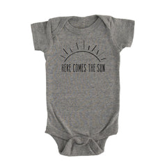 Here Comes the Sun Onesie - Grey