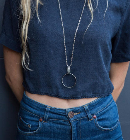 Circle Pendant Chain Necklace