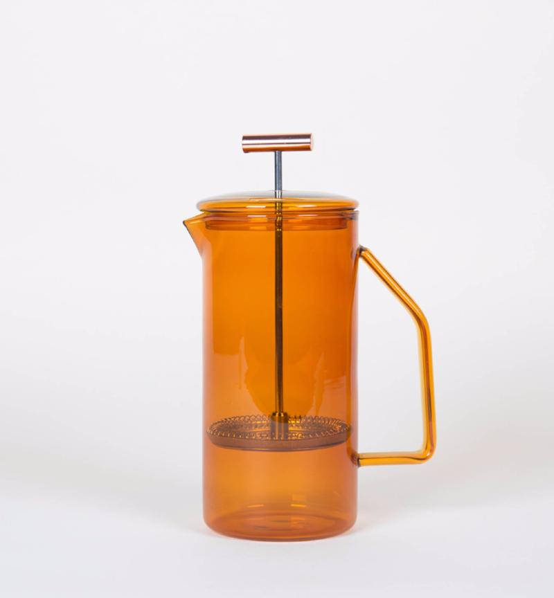 Amber Glass French Press - Coffee Lover's Favorite
