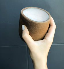 Brown and Cream Thumb Cupper