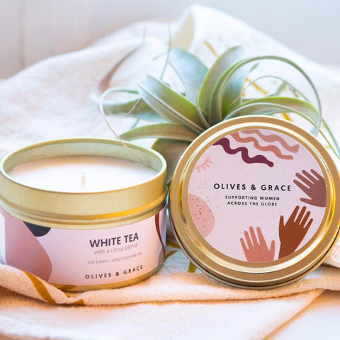 The Olives & Grace Signature Candle- Gift that Gives Back