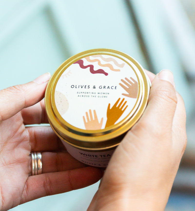 The Olives & Grace Candle- Gift that Gives Back