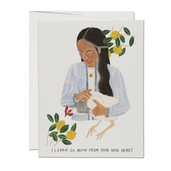 """I Learn So Much From Your Kind Heart"" Card - Pack of 5"