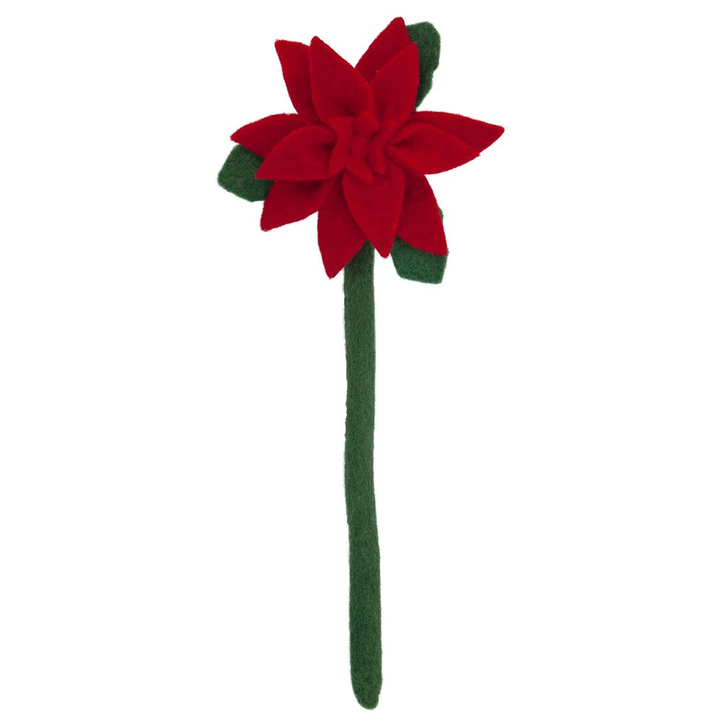 Felt Poinsettia Flower -  A Gift That Gives Back!