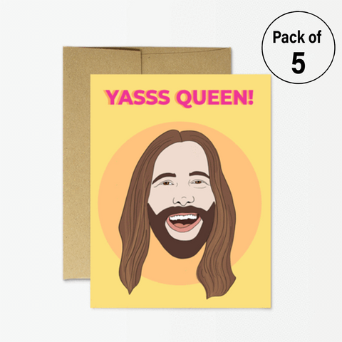 "JVN ""Yas Queen"" (Pack of 5 Cards)"