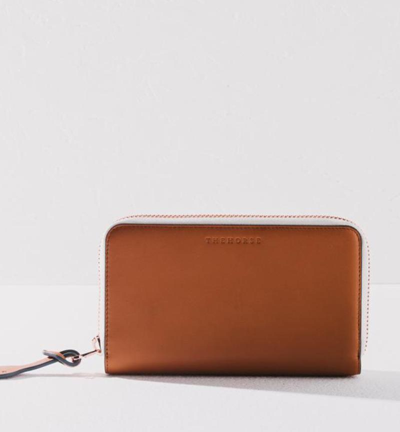Leather Wallet in Camel