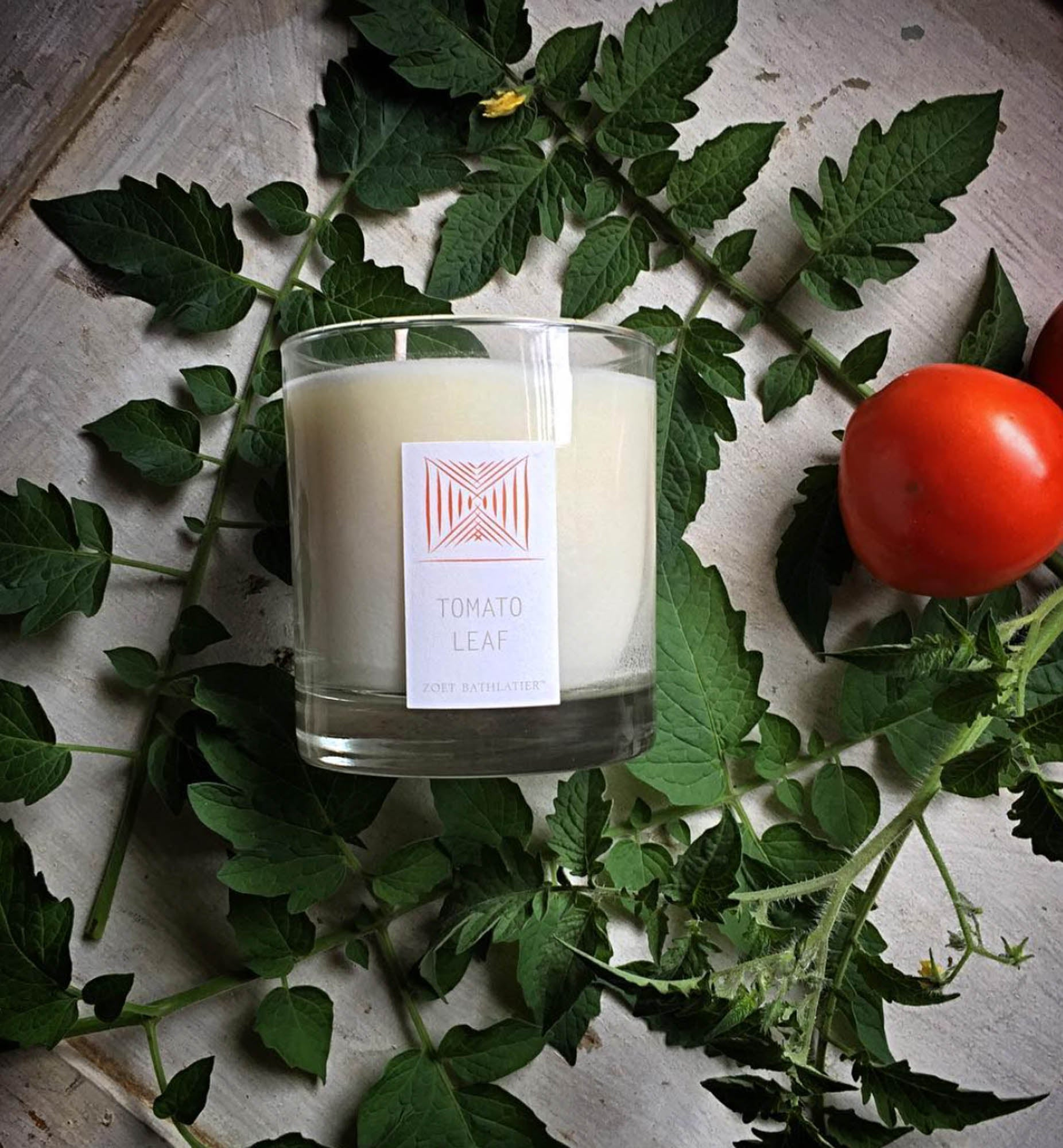 Rustic Tomato Leaf Hand-Poured Candle