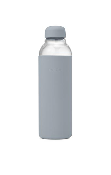 Reusable Glass Water Bottle - Slate