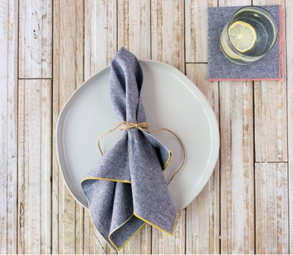 Denim Chambray Napkins (set of 4)