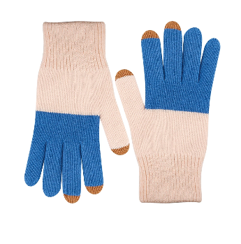 Touchscreen Gloves - Blue and Blush