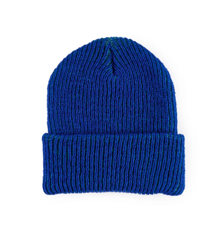 Simple Rib Hat - Teal with Navy Rib