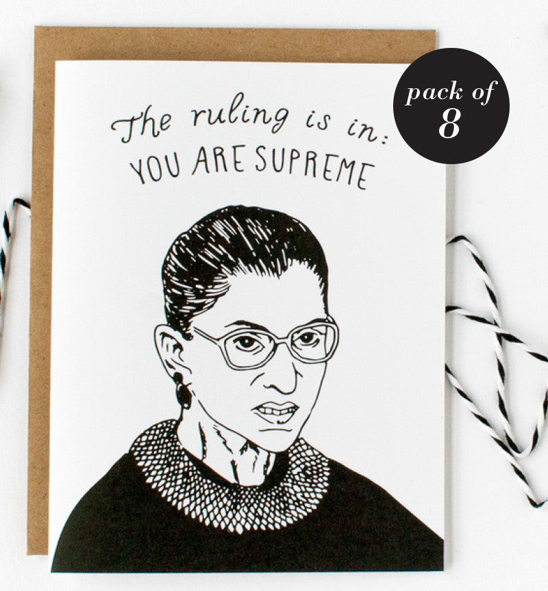 You Are Supreme Card (Pack of 8)
