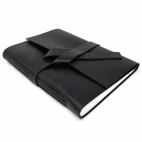 Midnight Black Leather Journal