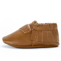 Classic Brown Leather Baby Moccasins