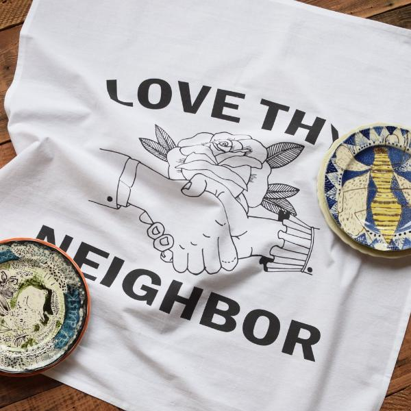 Love Thy Neighbor Tea Towel