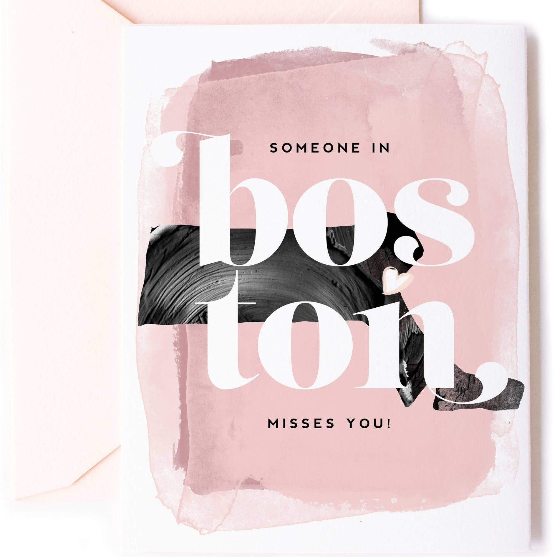 """Someone In Boston Misses You"" Card - Pack of 5"