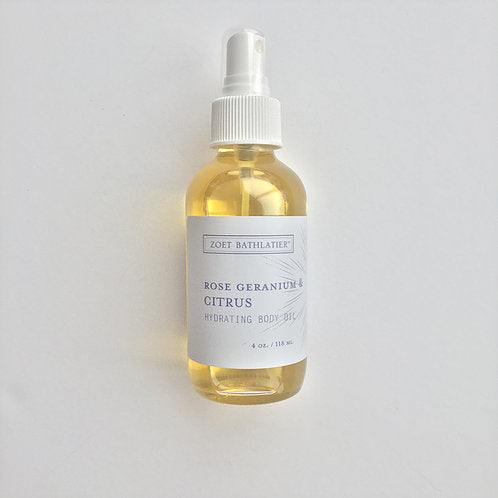 Zoet Bathlatier - Rose Geranium and Citrus Body Oil