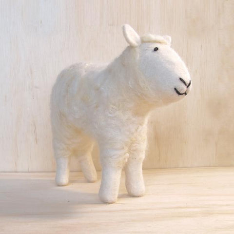 Hand Felted White Sheep (Large)