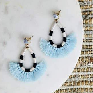 Tear Drop Tassel Earrings