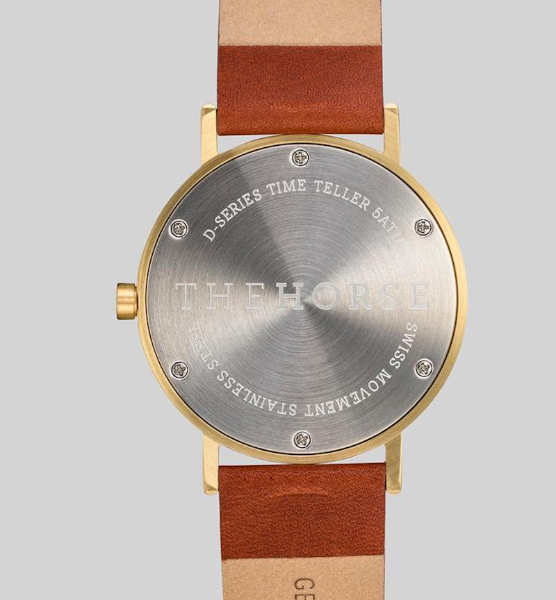 Brushed Gold Watch + Interchangeable Leather Bands