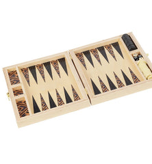 Backgammon Travel Set in Tan