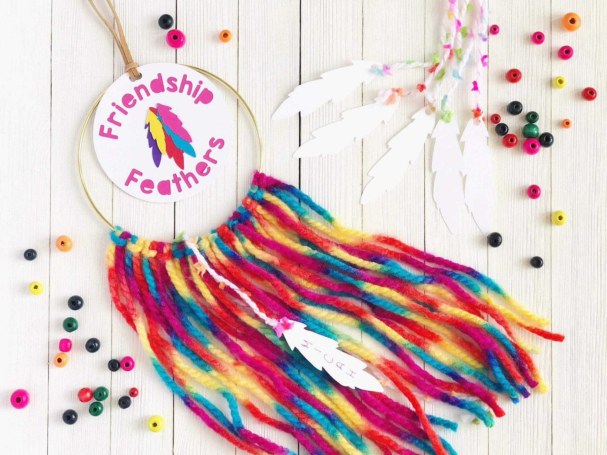 DIY Paper Friendship Feathers