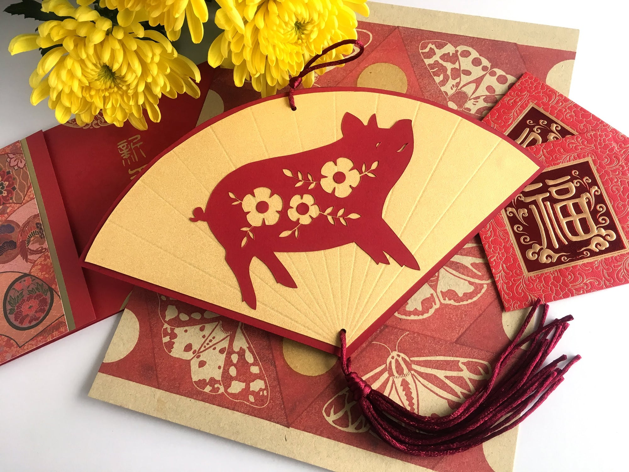 DIY Paper Year of the Pig Fan