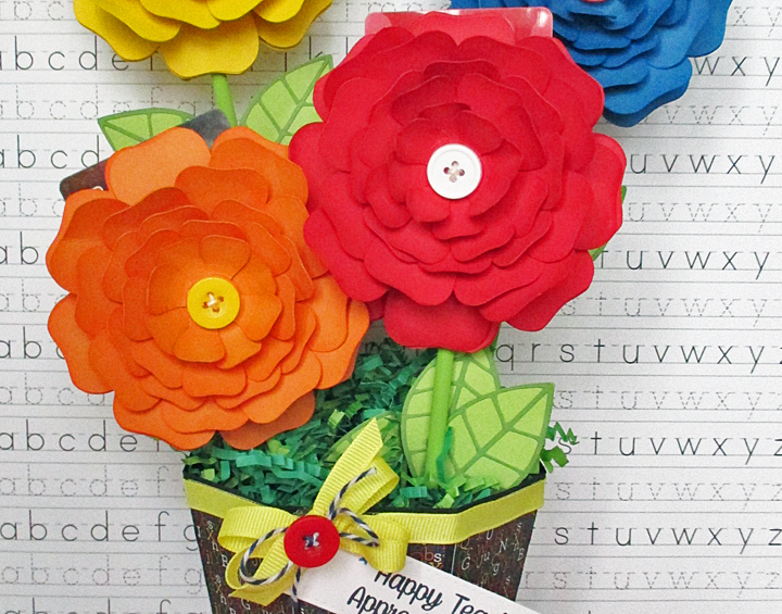 DIY Teacher Appreciation Gift Card Flower Bouquet
