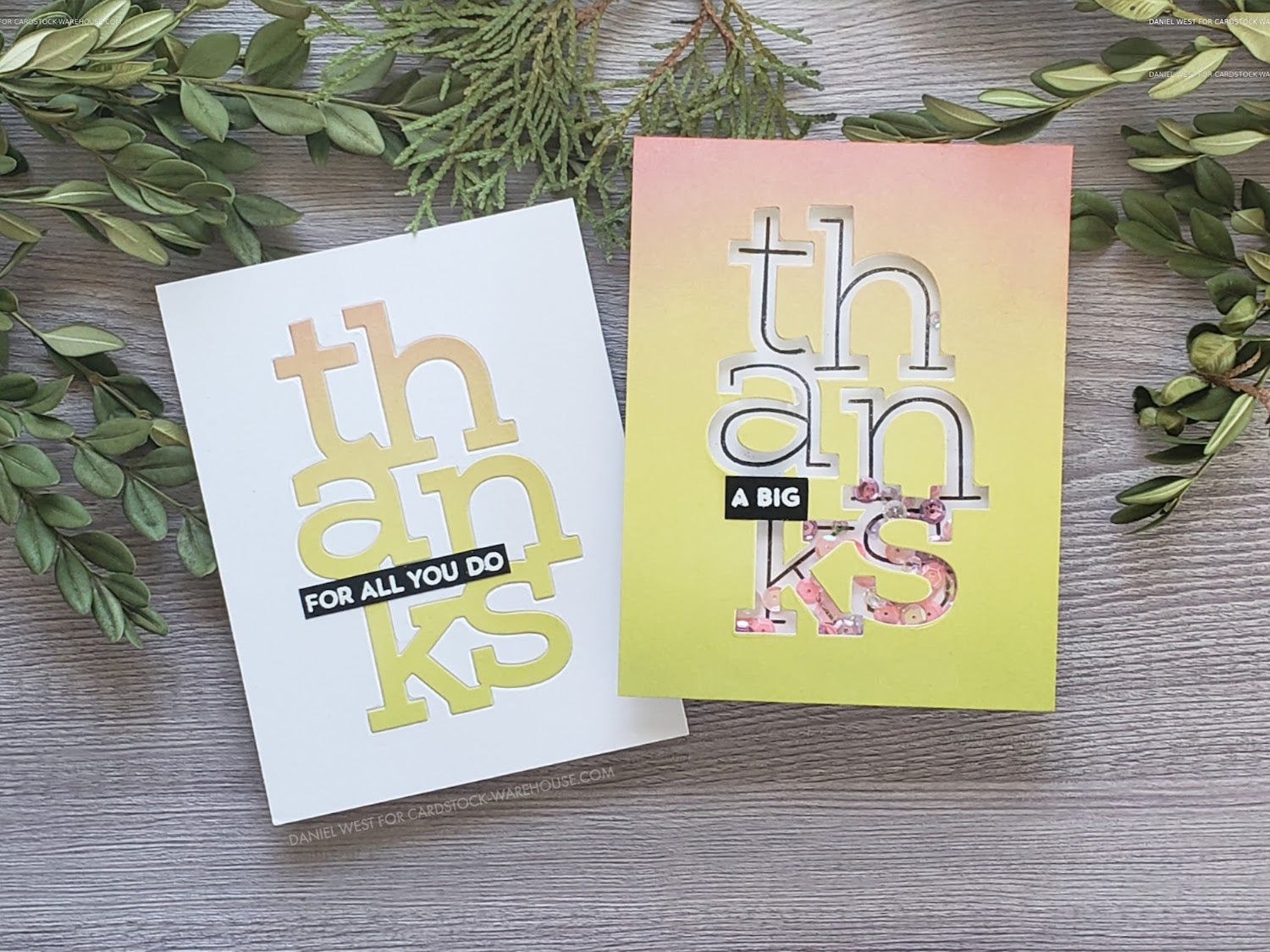 Die Cut Inlay Thank You Cards