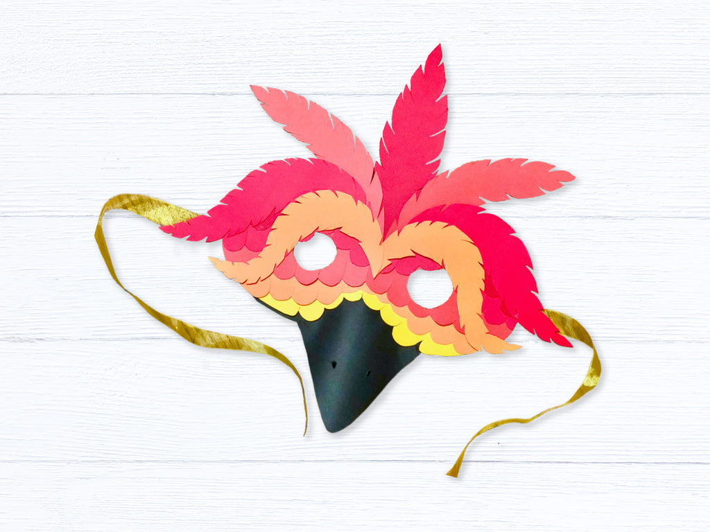 DIY Halloween Paper Bird Mask