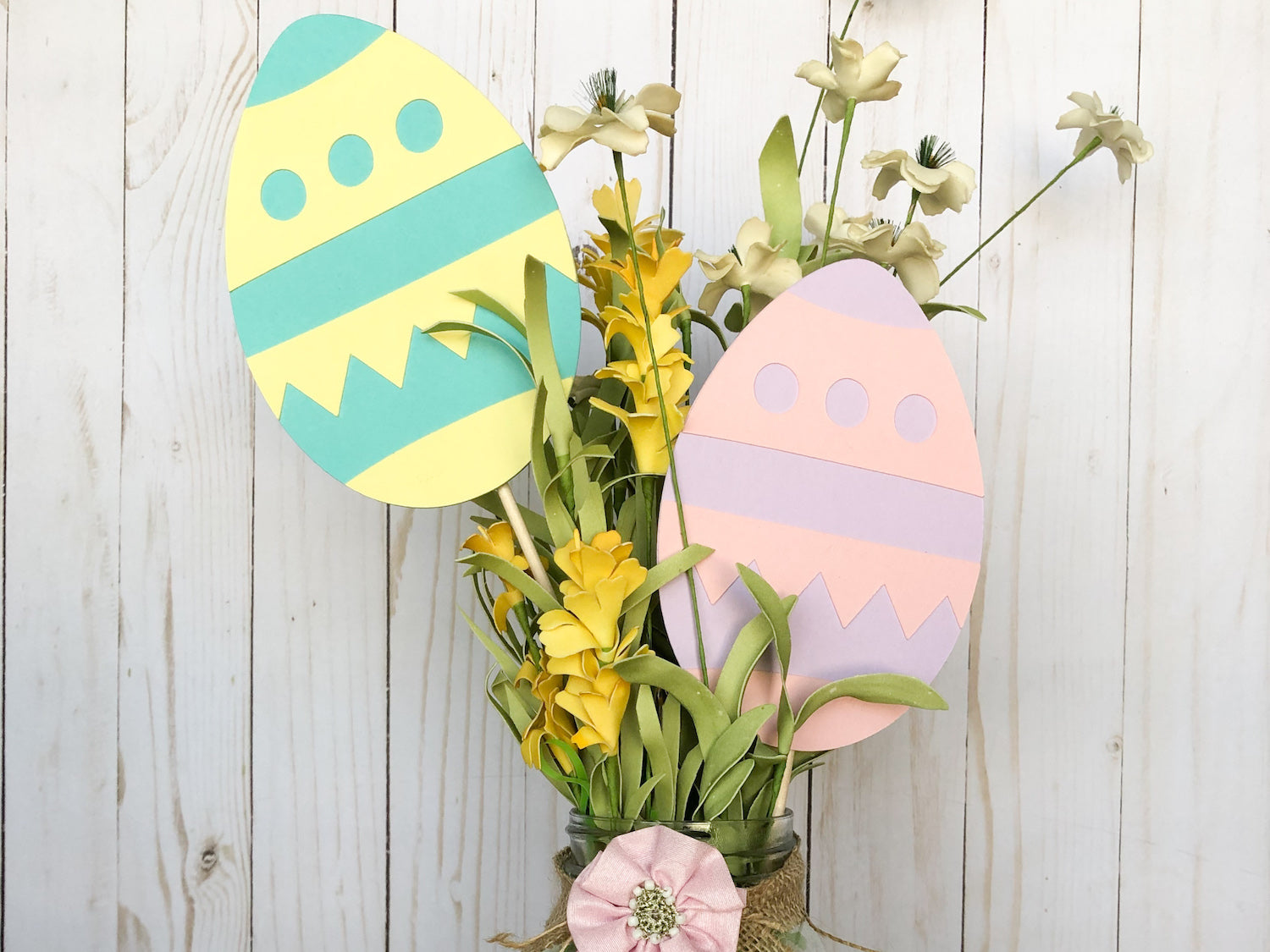 Paper Easter Egg Centerpieces