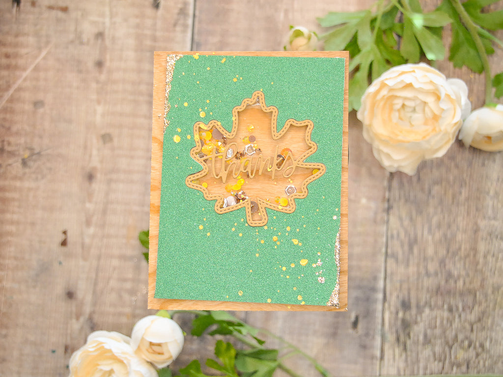 Fall Paper Shaker Thank You Card