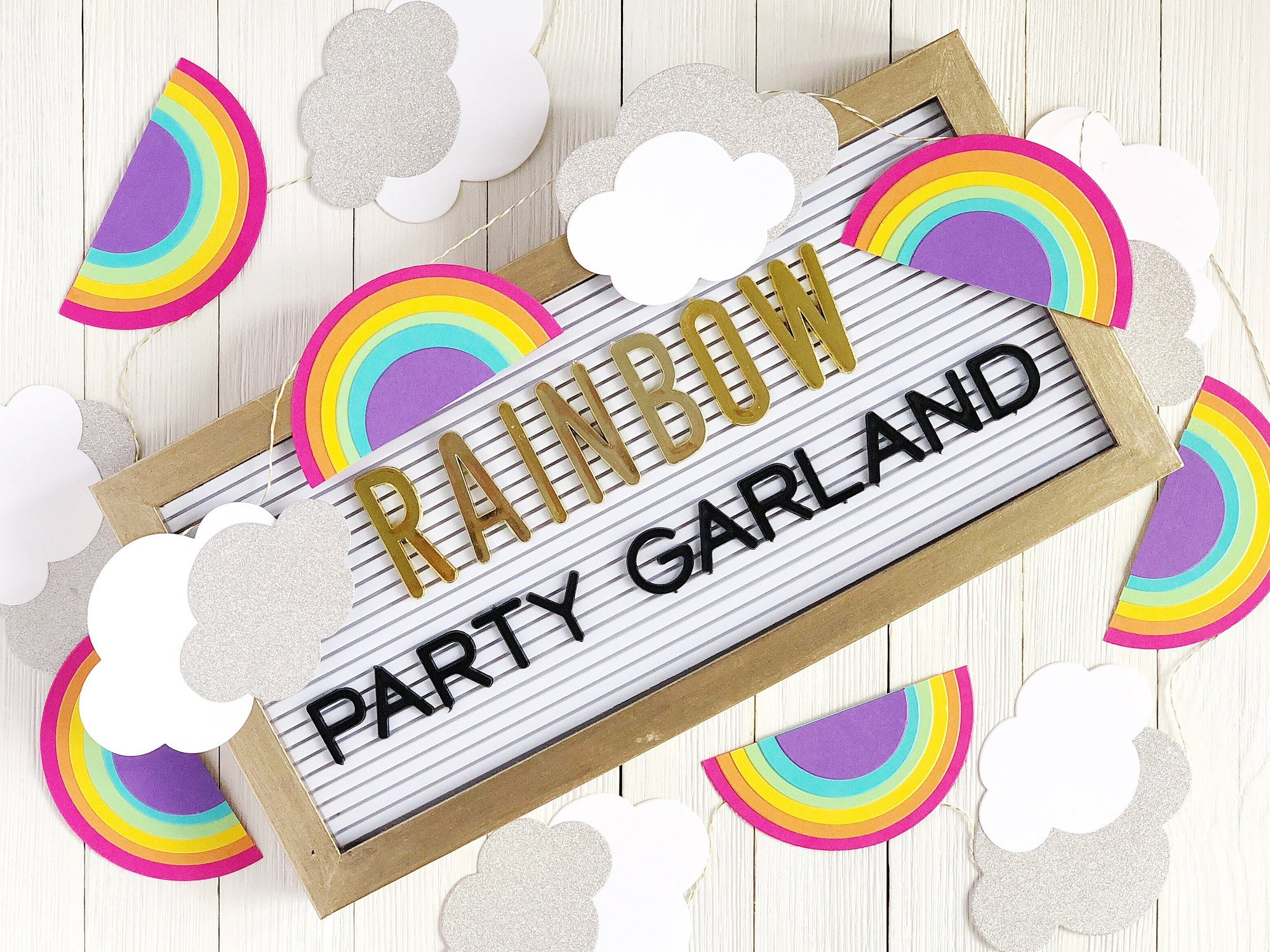 DIY Paper Rainbow Party Garland