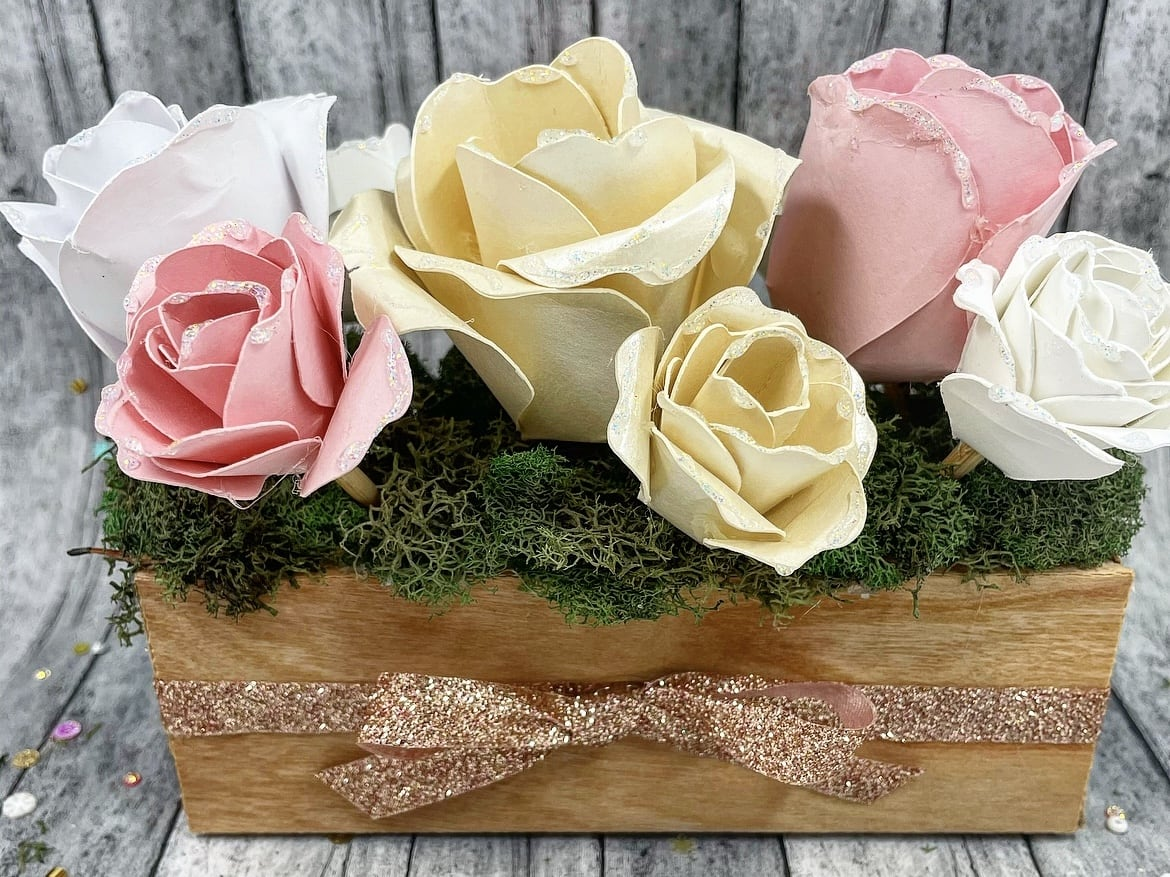DIY Forever Bouquet Paper Flower Box