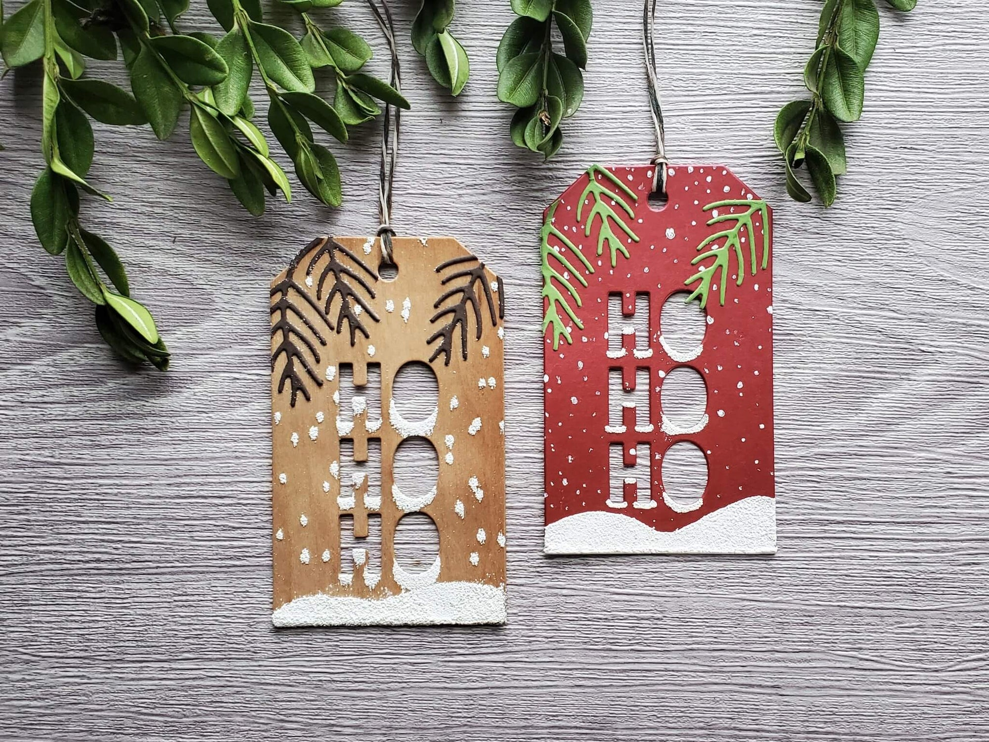 HoHoHo Wood Veneer Gift Tags