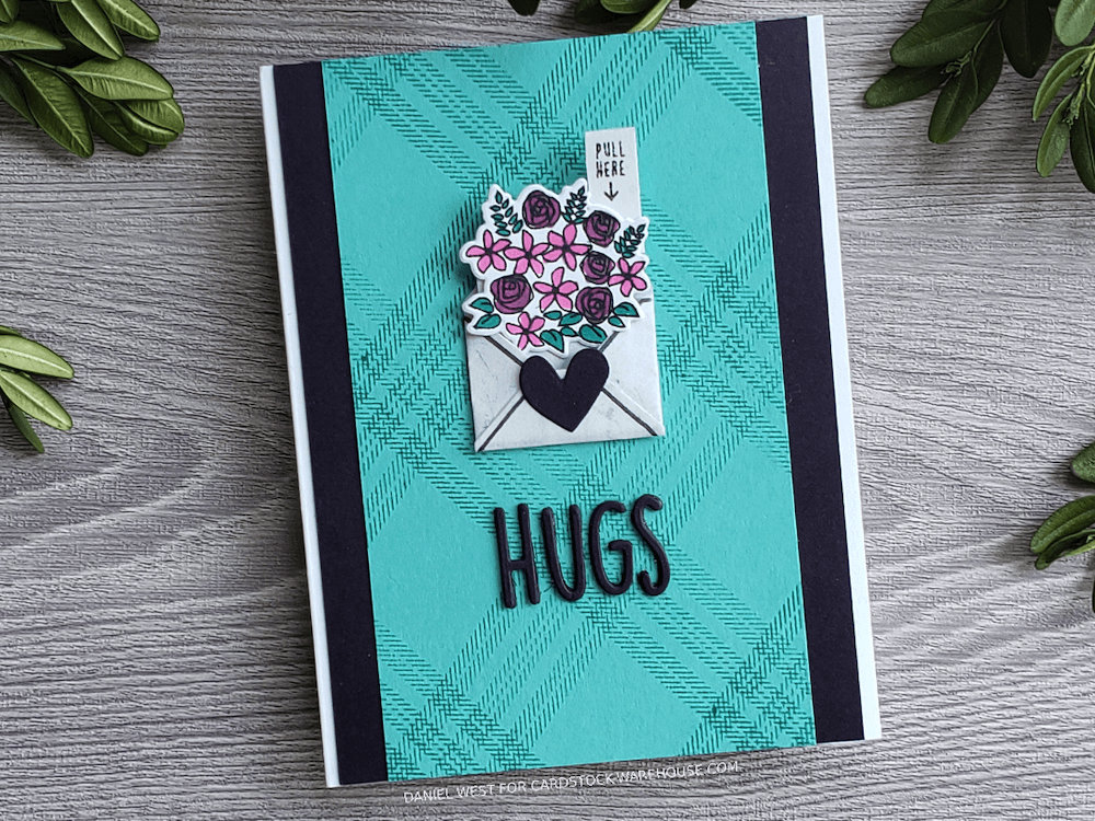 Die Cut Pocket Slide Bouquet Card