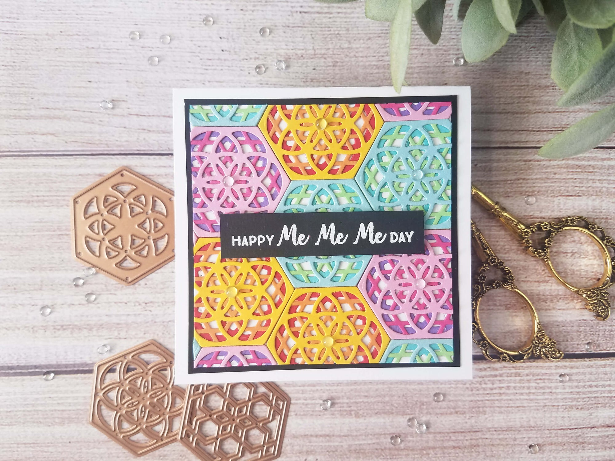 Layered Die Cut Birthday Card
