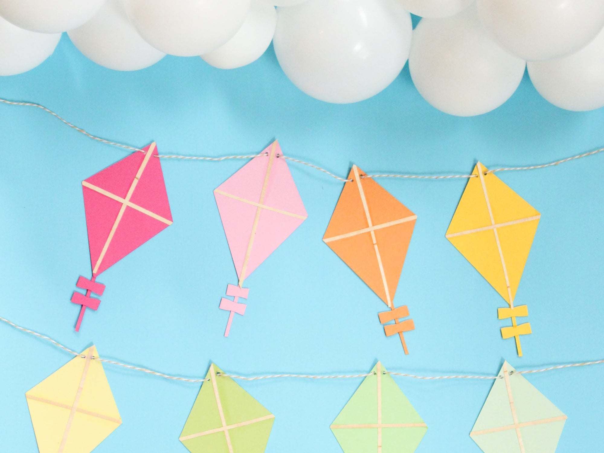 DIY Rainbow Paper Kite Garland