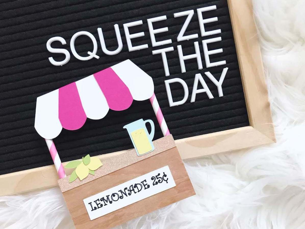 Wood Veneer Lemonade Stand Die Cuts